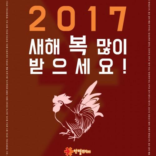 2017년 정유년(丁酉年) 새해 복 많이…